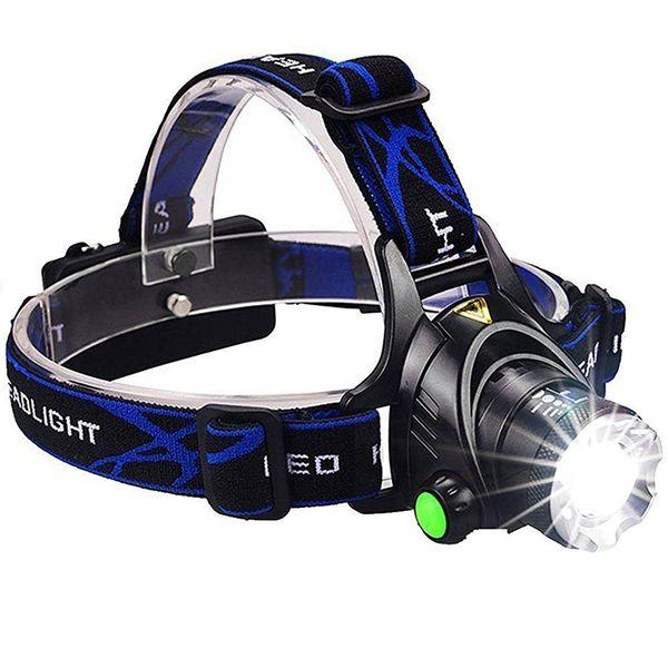 Lampada da testa a LED Super luminosa Lampada da testa a Led T6 Lampada da testa Zoomable Faro a testa stagna Lampada da pesca
