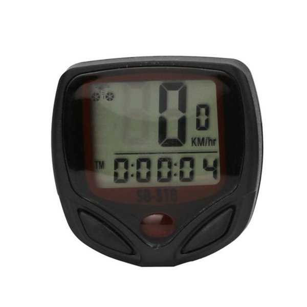 1pc Bike Computer With LCD Digital Display Waterproof Bicycle Odometer Speedometer Cycling Stopwatch Riding Accessories Tool #334073