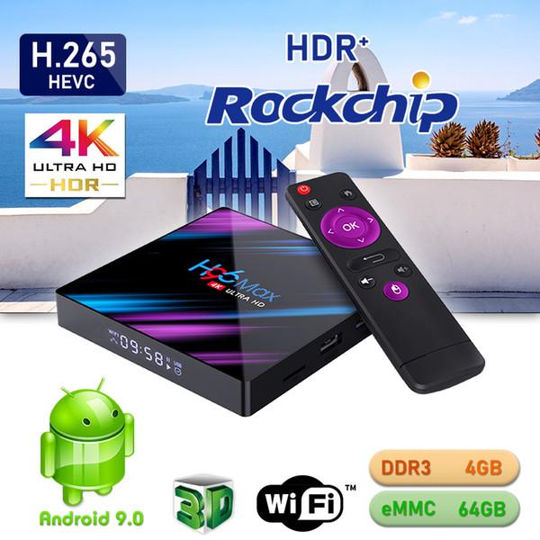 top popular New Hot H96 MAX TV BOX Android 9.0 RK3318 2GB16GB 4GB 32GB 64GB Dual WiFi Bluetooth Media Player HK1 2020