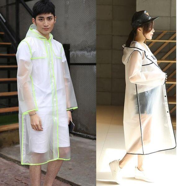 Impermeabile trasparente da donna in plastica grande da bambina Impermeabile impermeabile da pioggia Poncho da esterno Cappotto antipioggia 3 colori KKA6502