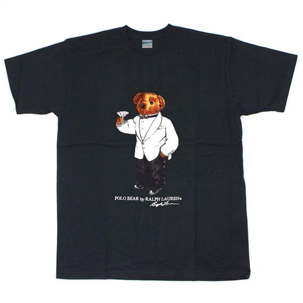 Vintage T-Shirt 90's Polo TUXEDO MARTINI BEAR Reprint Size S - 5XL