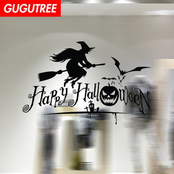 Decorate Home Hallowmas Halloween cartoon art wall sticker decoration Decals mural painting Removable Decor Wallpaper G-2154