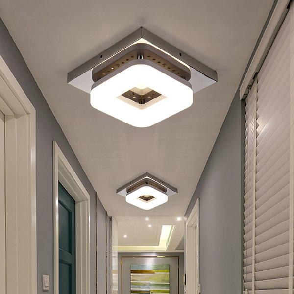 Plafoniera da incasso moderna Plafoniera da ingresso Corridoio Lampada da balcone Illuminazione interna Plafoniere a LED a plafone quadrate