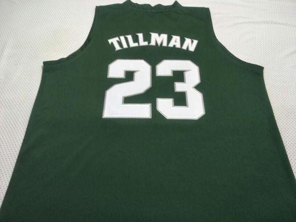 Мужчины Штат Мичиган Спартанцы Ксавье Тиллман # 23 College Real Джерси с вышивкой Размер S-4XL или обычай с любым именем или номером