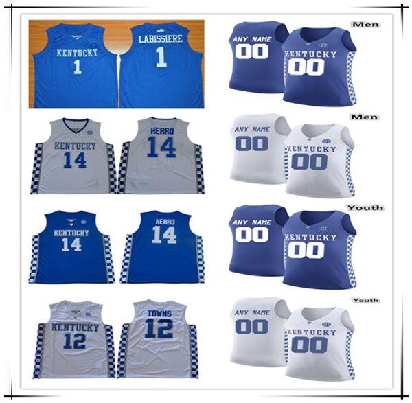 Personalizado Homens Kid Kentucky Wildcats Basketball Shirt PJ Washington Quade Verde Keldoniano Johnson Reid Travis Ashton Hagans Immanuel Quickley Herro