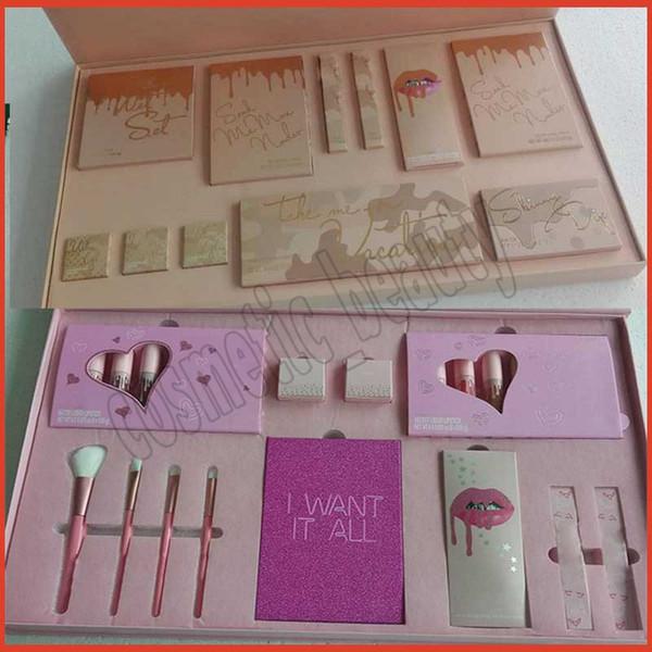NUEVO K Take Me On Paleta de maquillaje de vacaciones Kits de colección Edición limitada Kyshadow / Lápices labiales líquidos / Resaltador