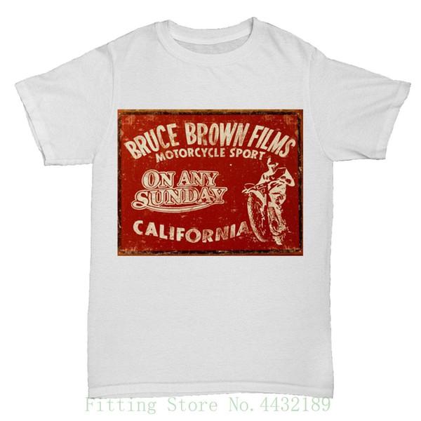 Sur n'importe quel dimanche film sur le thème rétro Vintage film film classique T-shirt Motocross Imprimer T-shirt hommes été