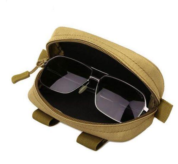 Tactique Molle Armée Lunettes Petite Poche Sac Multifonctionnel Eyewear Case antichoc Chasse En Plein Air Lunettes De Soleil Sacs