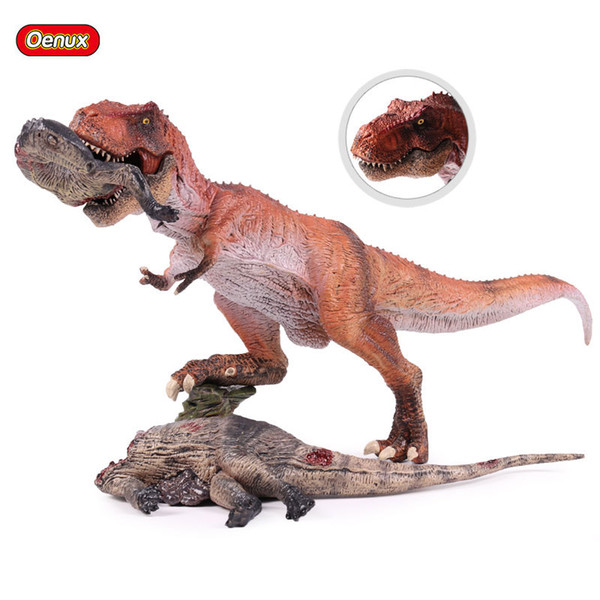 Ction Игрушечные Фигурки Oenux Jurassic Classic Плотоядный Король T-Rex Tyrannosaurus Rex Динозавр Модель Трупа Фигурку Brinquedo Edu ...