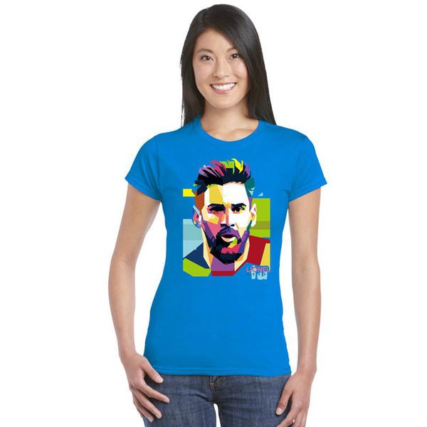 YENİ Lionel Messi Kısa Kollu T-shirt Kadın Temel Pamuk M.Ö. Tshirts Arjantin Jersey top Fanlar Tişörtlü Barcelona kız yeni varış