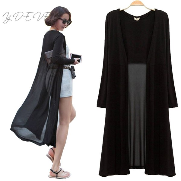 Maxi Cardigan Feminino 2017 Ankle Length Sweater Coat Cardigan Women Long Sleeve Korean Vintage Black Oversized Sweaters Dress