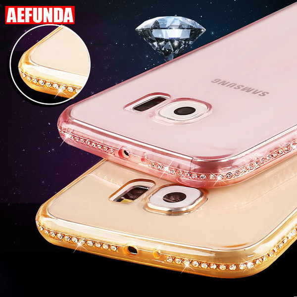 Luxury Bling Diamond Clear Phone Case For Samsung Galaxy S8 S9 S10 Plus S7 S6 Edge J6 A7 A5 Note 9 Soft Tpu Back Cover