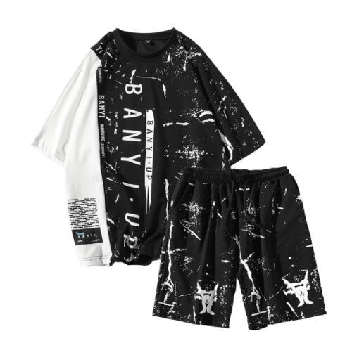 Summer Designer Tracksuits for Mens Sportswear with Letters Fashion Brand Tracksuits Breathable Short Sleeve Men Tops Shorts Asian Size.