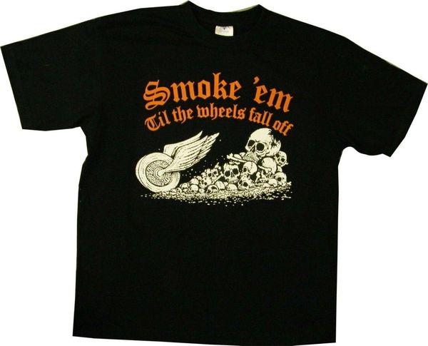 New USA Ретро Smoke 'Em Biker Мотоциклетная футболка с цветным принтом S-3XL One Color