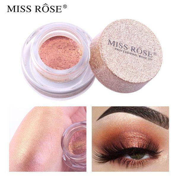 Shimmer Loose Powder sombra de ojos del pigmento del maquillaje a prueba de agua del brillo sombra de ojos en polvo Ojos Miss Rose marca de cosméticos