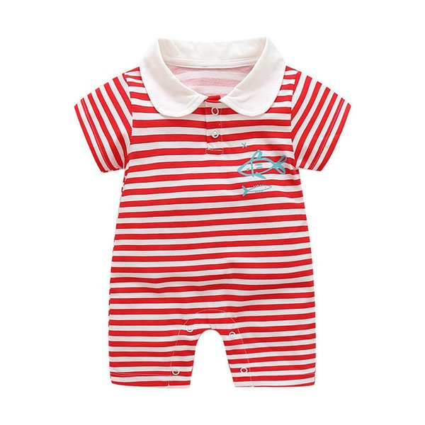 good quality Newborn Girls Rompers Baby Girls Summer Fashion Cotton Pajamas Infant Girls Striped Jumpsuit Clothing Bebe Sleepwear