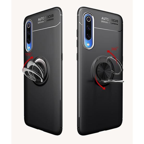 MAKAVO Für Xiaomi 9T Profall 9-Ring-Halter-weiche Silikon-Matte rückseitige Abdeckung für Xiaomi 9T MI9 Mi 9