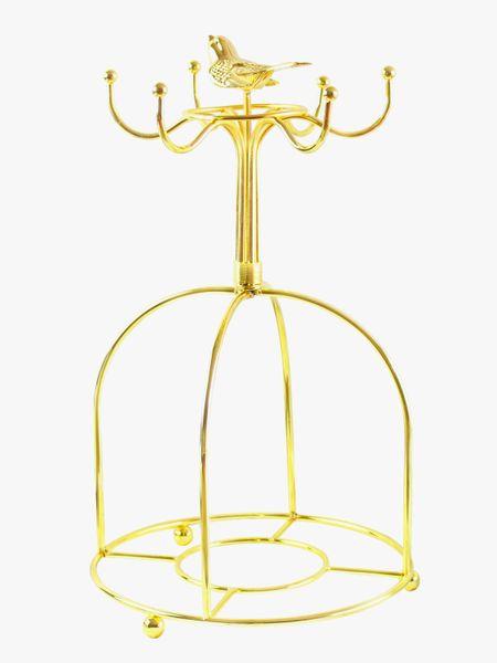 British Gilt Bird Rack Creative Coffee Cup Saucer Tray Storage Household Rack Hanging Upside Down Asphalt Cup Holder
