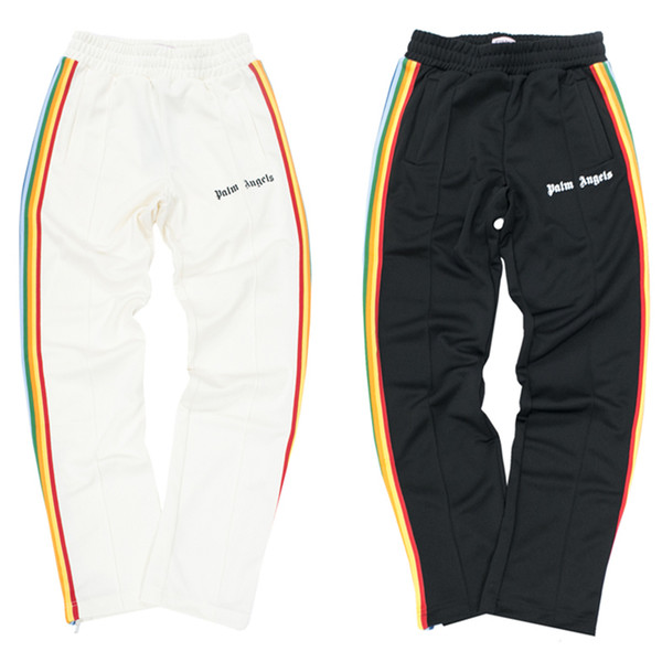 Palmiye Melekler Erkek Tasarımcı Pantolon Yüksek Qualirty Erkekler Kadınlar Çiftler Tasarımcı Sweatpants Mens Tasarımcısı Fermuar Dekorasyon Günlük Pantolon
