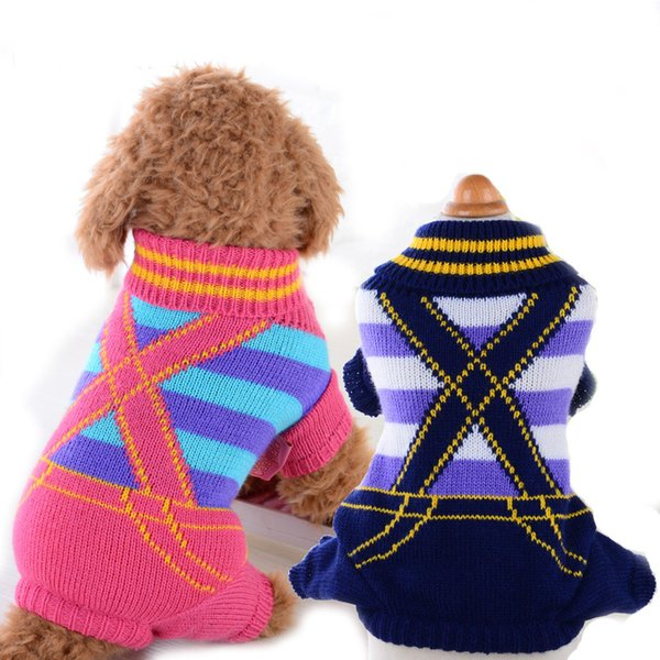 Classic Dog Clothes Warm Puppy Outfit Pet Jacket Coat Winter Spring Dog Clothes Soft Sweater Clothing For Small Dogs Chihuahua