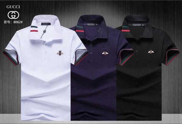 19 мужские различные стили Поло повседневная сплошной цвет одежды летняя мода твердые хлопчатник с коротким рукавом дышащий размер M-3XL #141