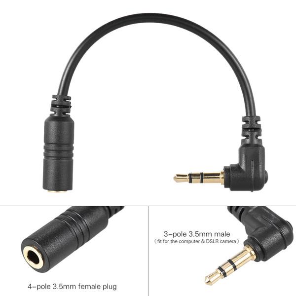 dslr Andoer Mikrofonkabel Smartphone-Mikrofon Mikrofon an PC-Computer DSLR-Kameraadapter
