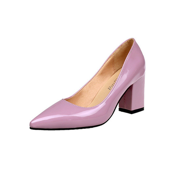 Women's Shoes High Heels Shallow Pointed Toe Slip-on Office Spring New 2019 Work Shoes Size 33-43 Comfortable And Fashionable