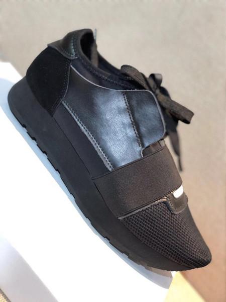 Dernières baskets en cuir réfléchissant surdimensionné Sneaker, formateurs de concepteur en blanc noir hommes et femmesCasual Shoes avec la taille de la boîte