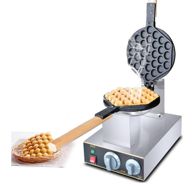 FREE SHIPPING commercial electric bubble waffle iron maker machine Chinese Hong Kong eggettes puff egg cake oven