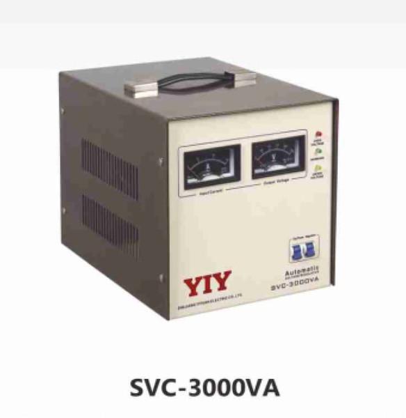 3000VA 2400W CA estabilizador automático de regulador de tensão série SVC GAMA DE TENSÃO DE ENTRADA LARGA FASE ÚNICA 50 / 60Hz MCB / FUSE