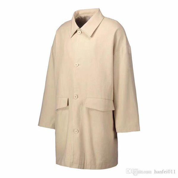 Color sólido Abrigo Hombres Chaquetas largas Buena calidad Al aire libre Moda Ropa de abrigo Hombres Mujeres Chaquetas casuales a prueba de viento Hflsjk178