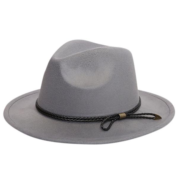 c56a3279345ec7 ISHOWTIENDA Vintage Hats For Women Crushable Wool Felt Outback Hat Panama  Hat Wide Brim with Belt