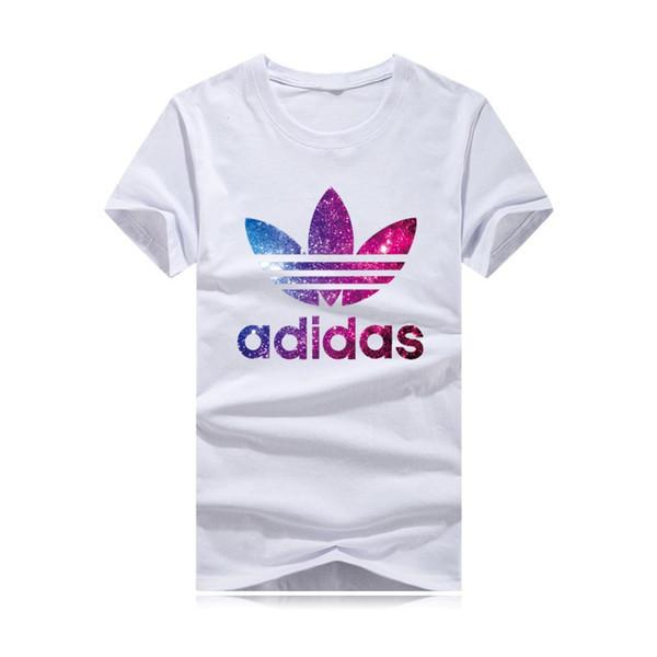 Erkek pamuklu 2019 yaz t- shirt kabartmalı yazı yonca gömlek, klasik tarzı, çok- renkli top. Ücretsiz kargo