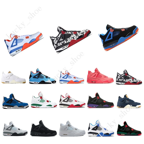 4 4s Tattoo Singles Day Mens Basketball Shoes Travis Scotts Raptors White Cement Alternate Motorsport men sports sneakers designer trainers