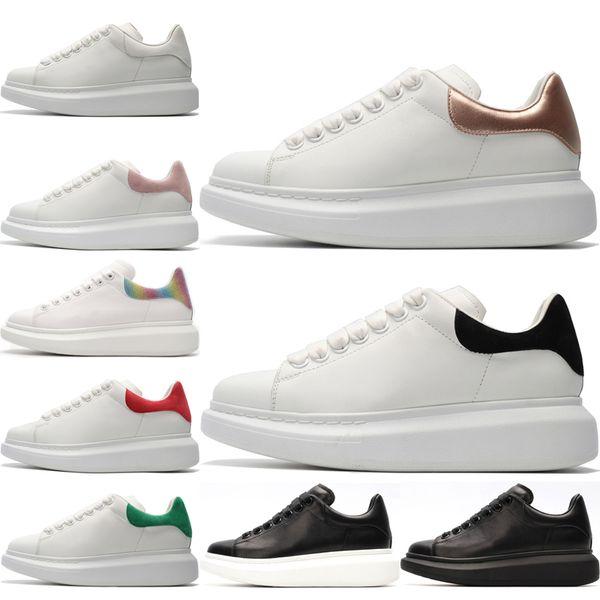 Alexander Mcqueen Moda hombre mujer zapatos casuales niña negro blanco zapatillas hombres mujeres triple negro verde rojo gris oro entrenador de tenis zapatos deportivos 36-44