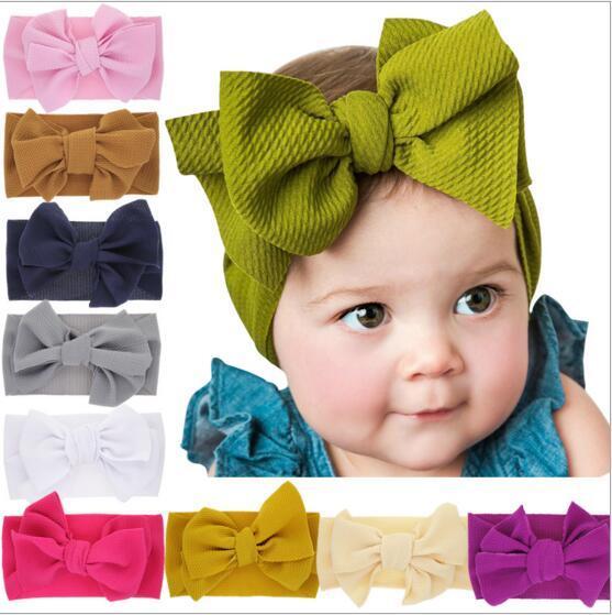 Baby Candy Farbe Stirnbänder Bowknot Kaninchenohren Stirnbänder Kleinkinder Elastische Haarbänder Kinder Headwear Bandanas Baby Haarschmuck LT197