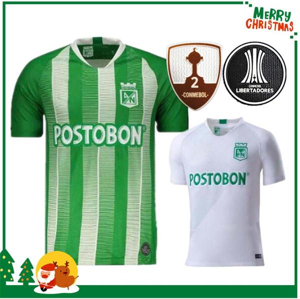 19 20 Atletico Nacional Medellin H.BARCOS Soccer Jersey Clube Medellín 2019 2020 do futebol da casa de manga curta Sports Brasil Football Shirt