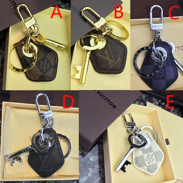 bolso dominante del llavero marca de joyería de diseño de piel colgante llavero con el regalo embalaje original
