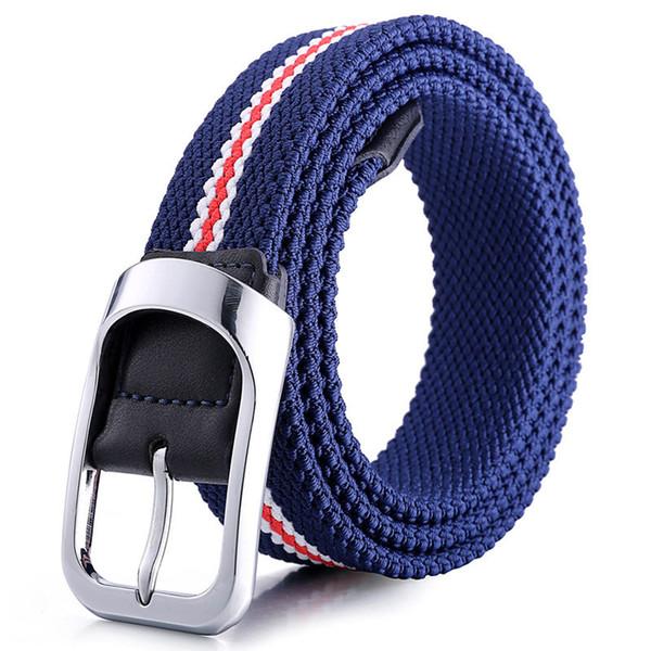 Fashions Elastic Woven Belts Webbing Waist Straps Luxury Hip Hop Waistbands Men's Women's Classic Belt Unisex Breathable Belt