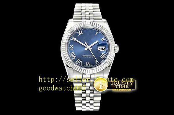 Orologio sportivo da uomo di alta qualità Asia 2813 Movimento automatico quadrante blu con indici romani Marcatori in acciaio inossidabile 316L