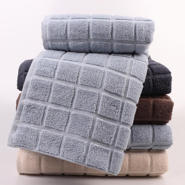 Cotton Large bath towel high quality adult Thicken Water absorption soft Skin-friendly 3D lattice bath towel new style Factory direct sales