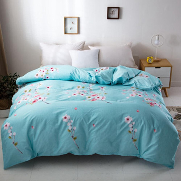 High Density Polyester/cotton Duvet Cover Simple Multicolor Flower Bedding Double Single Duvet Quilts Comforter Case Twin Full Queen