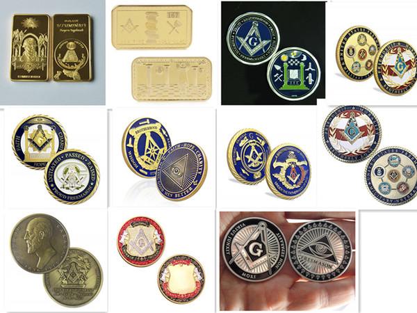 Mix 12 design! US Army Navy Marines Air Force Coast Guard Veterans Affairs Commemorative Coin Freemason Military Veteran Coins Collectibles