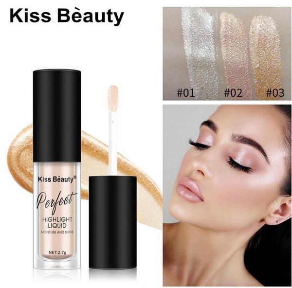 BELEZA BELEZA maquiagem 3Color Shimmer Face Glow Líquido Highlighter Corretivo Gloss fundação Líquido