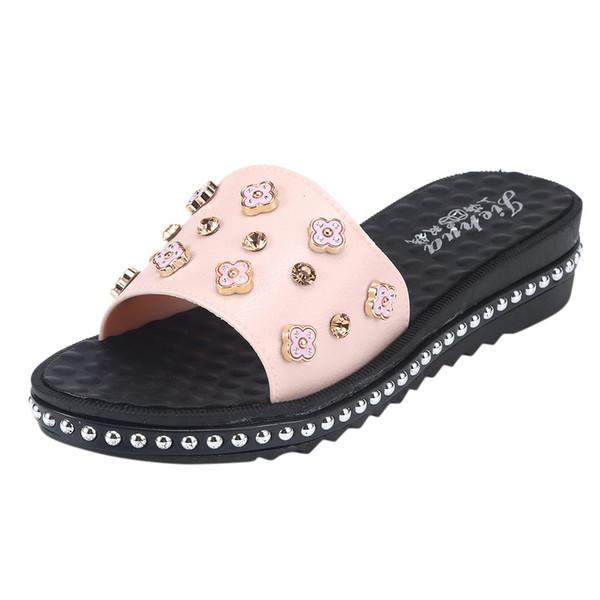 SAGACE 2019 Mujeres Transpirable Ligero Sandalias Masaje Cómodo Chanclas Zapatos de Playa Casual y Moda zapatilla # 333333