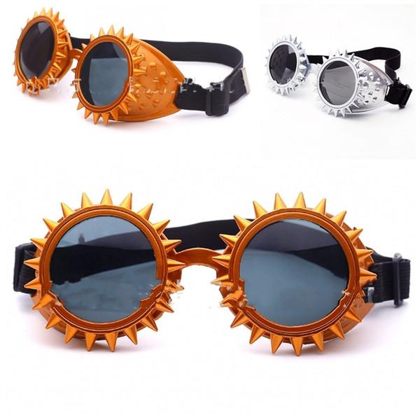ab73f3a206f2 flower eyeglass frames Coupons - Sun Flower Strange Glasses Steam Punk  Barbed Rivet Eyewear Male And