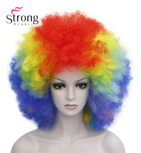 Afro Jumbo Festival Fans Wig clown Costume Halloween Dress Up party Wigs Synthetic Hair COLOUR CHOICES