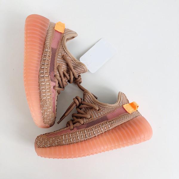 2019 Çocuklar Ayakkabı Toddler Erkek Kız Kil Antlia Statik Kanye West Kutusu Ile Açık Koşu Ayakkabıları Sneakers Satış Çevrimiçi