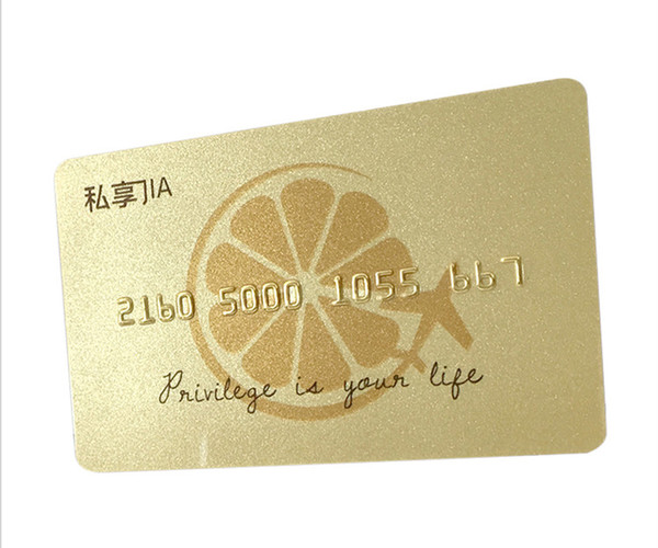 Standard Size PVC card UV silkscreen printing PVC clear frosted plastic business cards