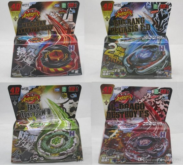 Fusion 4D Beyblade Metal with Launcher Beyblades Spinning top Set Kids Game Toys Christmas Gift fighting gyro 8 styles original box